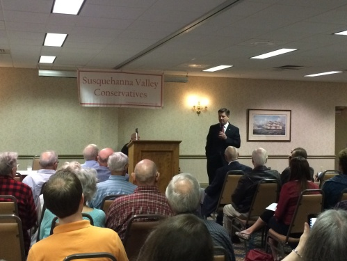 Lt. Gov. Jim Cawley Speaks to SVC on April 14, 2014